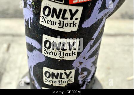 nur New York Aufkleber Stockbild