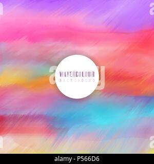 Gemalten Hintergrund mit einem Aquarell Textur Stockbild