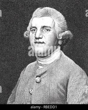 JOSIAH WEDGWOOD (1730-1795) Englische Keramik Unternehmer Stockbild