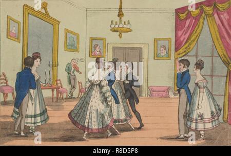 Quadrillen: Üben zu Hause, c 1815. Private Sammlung. Stockbild