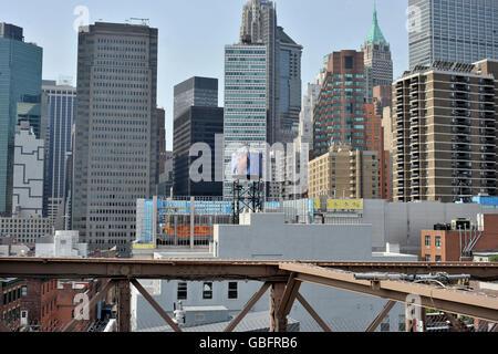 Brooklynbrücke New York Stockbild