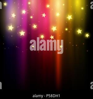 Farbenfrohe abstrakte Hintergrund von Sternen Stockbild