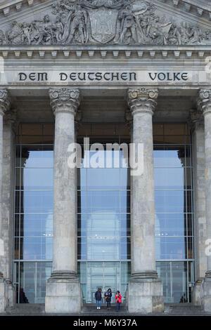 Der Reichstag, Mitte, Berlin, Deutschland Stockbild