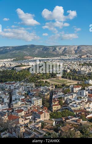 Blick über die Stadt Athen, Griechenland Stockbild
