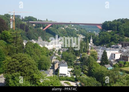 Großherzogin Charlotte Bridge, der Stadt Luxemburg, Luxemburg, Europa ich Großherzogin Charlotte Brücke, Luxemburg-Stadt, Luxemburg, Europa Stockbild