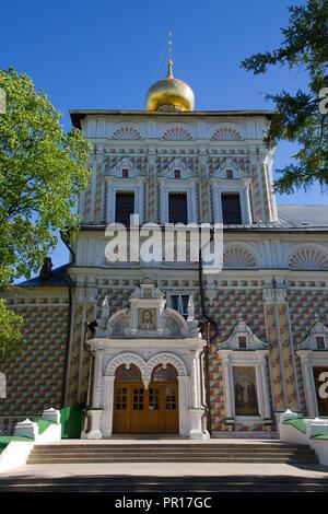 St. Sergius Kirche, die Heilige Dreifaltigkeit, Hl. Sergius Lavra, UNESCO-Weltkulturerbe, Sergiev Posad, Russland, Europa Stockbild