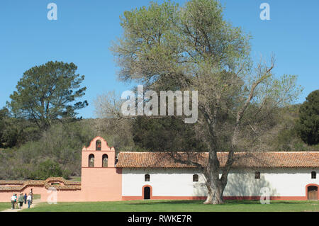 La Purisima Mission in der Nähe von Lompoc CA. Digitale Fotografie Stockbild