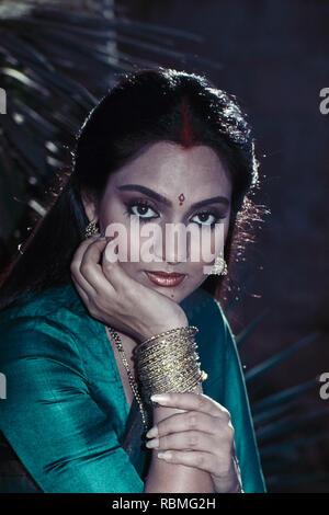Portrait von Swapna, Indien, Asien Stockbild