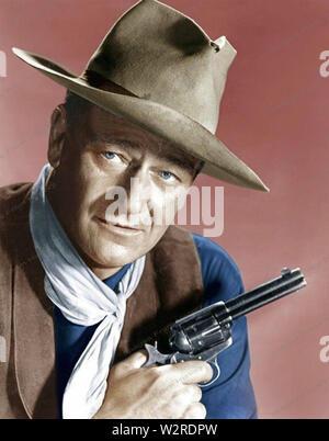 JOHN WAYNE (1907-1979) amerikanischer Schauspieler über 1965 Stockbild