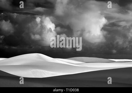Endlose sand. White Sands National Monument. New Mexico Stockbild