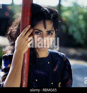 Portrait von kitu Gidwani auf Pole, Indien, Asien Stockbild