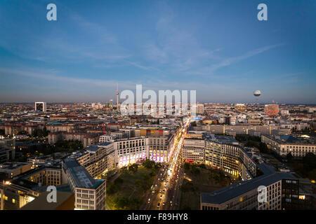 Skyline Berlin, Potsdamer Platz, Deutschland Stockbild