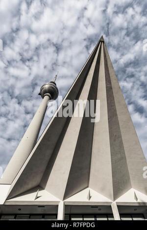 Fernsehturm, Alexanderplatz, Berlin, Deutschland Stockbild