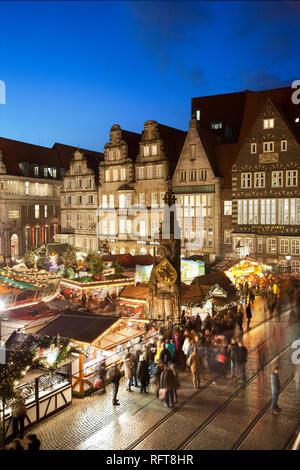 Marktplatz, Weihnachtsmärkte, Bremen, Deutschland, Europa Stockbild