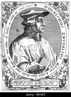 ULRICH ZWINGLI (1484-1531) Schweizer reformistischen Theologe Stockbild
