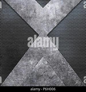 Zusammenfassung Hintergrund mit metallische Texturen Stockbild