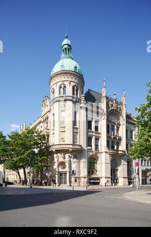 """Der ehemalige Sitz der Hannoverschen Bank, heute Filiale der Deutschen Bank, Hannover, Niedersachsen, Deutschland Ich Ehemalige Hauptverwaltung Hannoversche Bank"""", """"heute"""" Stockbild"""