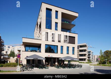 Modernes Apartment Gebäuden, Oldenburg in Oldenburg, Niedersachsen, Deutschland, Europa ich Moderne Mehrfamilienhäuser, Oldenburg in Oldenburg, Niedersachse Stockbild