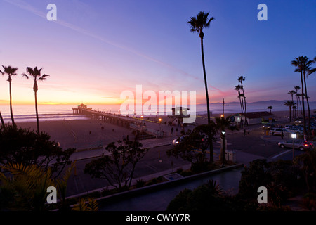 Manhattan Beach pier Stockbild