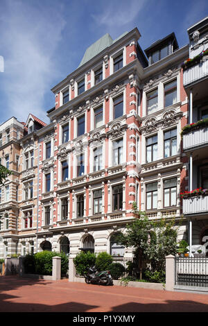 Altes Wohnhaus im klassischen Stil in Körtingstrasse, Hannover, Niedersachsen, Deutschland, Europa ich altes Wohnhaus in der Körtingstraße, Hannover, N Stockbild