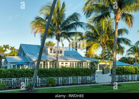 Historische Knochen Cottage (b. 1921), Naples, Florida, USA Stockbild