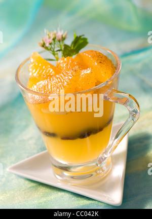 Orange und Zimt Gelee Stockbild
