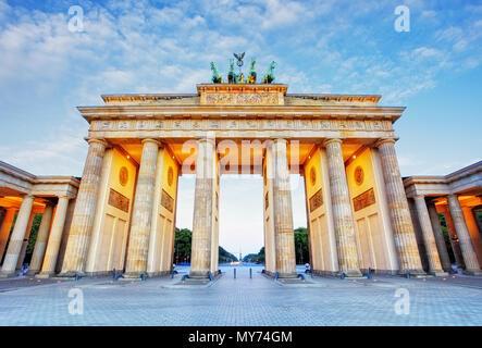 Brandenburg in Berlin, Hauptstadt der Bundesrepublik Deutschland Stockbild