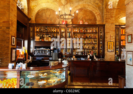 Cagliari, Cafe Svizzero, Italien-Sardinien Stockbild