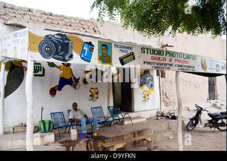 Fotostudio in Timbuktu, Mali Stockbild