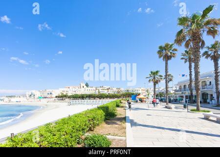 Otranto, Apulien, Italien - Palmen an der Promenade von Otranto in Italien Stockbild