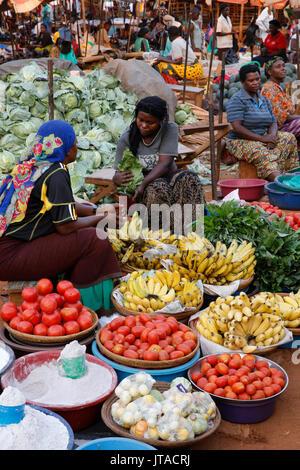 Masindi Markt, Uganda, Afrika Stockbild