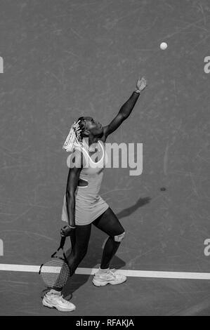 Venus Williams konkurrieren auf dem 1998 US Open Tennis Championships Stockbild