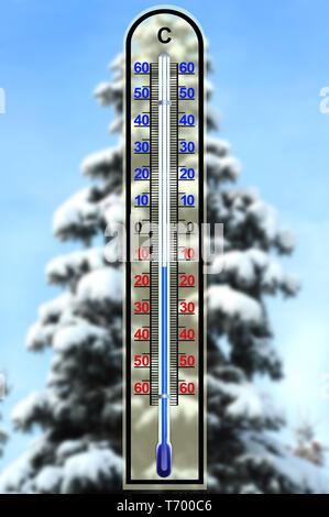 Winter 9. Stockbild