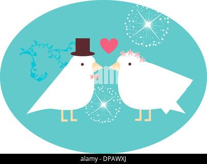 Vogel-Braut und Bräutigam Stockbild
