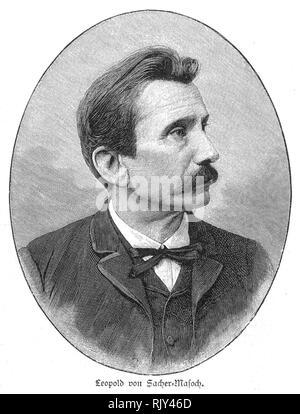 LEOPOLD VON SACHER-MASOCH (1836-1895), österreichischer Adeliger und Schriftsteller Stockbild