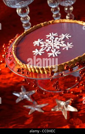 Weihnachten rosa Torte Stockbild