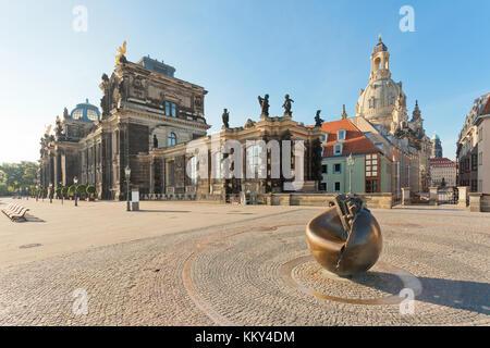 Dresden - Deutschland - am frühen Morgen, Europa Stockbild