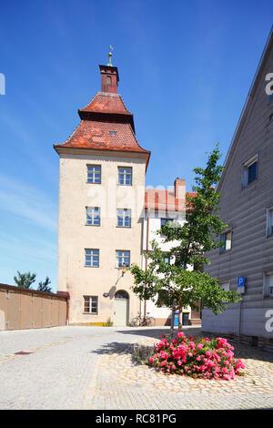 Ursulaturm in der Altstadt, Günzburg, Schwaben, Bayern, Deutschland, Europa ich Ursulaturm in der Altstadt, Günzburg, Schwaben, Bayern, Deutschland, Europa I Stockbild