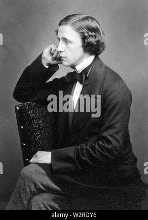 LEWIS CARROLL - Charles Dodgson (1832-1898) englischer Schriftsteller, Dichter, Mathematiker Stockbild