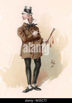 WILKINS MICAWBER Sekretärin in Charles Dickens 1850 Roman David Copperfield von Kyd (Joseph Clarke) ca. 1890 gezeichnet Stockbild