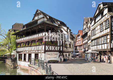 Maison Les, La Petite France, Weltkulturerbe der UNESCO, Straßburg, Elsass, Frankreich, Europa Stockbild
