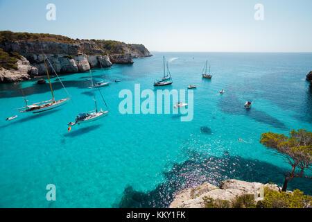 Cala Macarella - Menorca - Balearen Stockbild