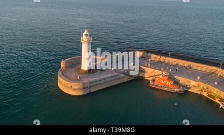 Hafen von donaghadee auf dem Ards Halbinsel, Co unten gelegen. Stockbild