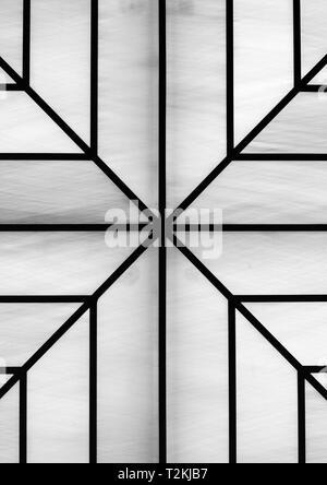 Geometrische Form in Schwarz und Weiß. Stockbild