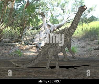 Dinosaurier Ampelosaurus / Dinosaurier Ampelosaurus Stockbild