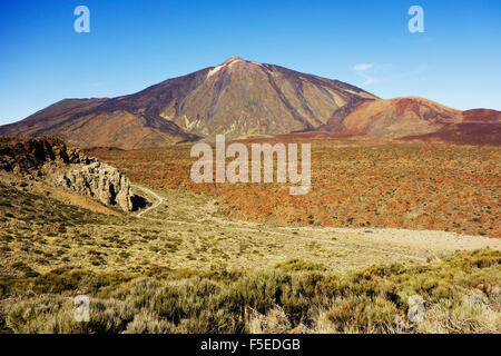 Pico del Teide, Parque Nacional del Teide, UNESCO-Weltkulturerbe, Teneriffa, Kanarische Inseln, Spanien, Europa Stockbild
