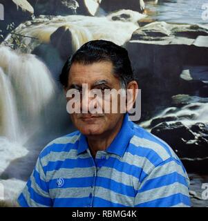 Portrait von Anand Bakshi, Indien, Asien Stockbild