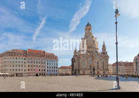 Dresden - Deutschland - Laterne auf dem Markt, Europa Stockbild