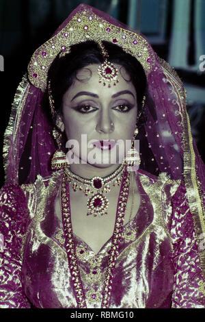 Portrait von Hema Malini, Indien, Asien Stockbild