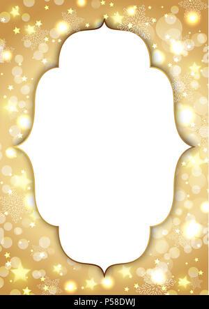 Goldene Weihnachten Hintergrund mit Platz für Text Stockbild
